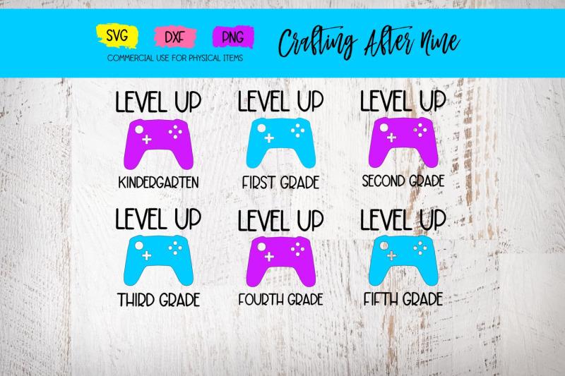 level-up-bundle-back-to-school-bundle-gamer-svg-dxf-png-back-2-sch