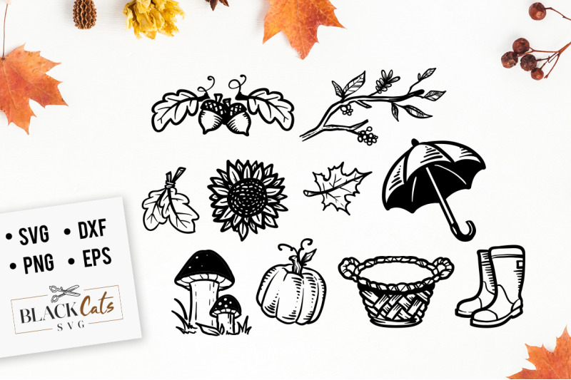 autumn-cliparts-set-svg