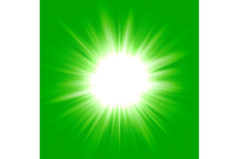 green-flash-star-background