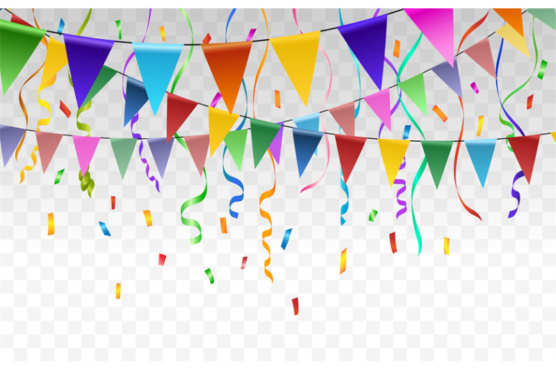 flags-and-confetti-garlands-on-transparent