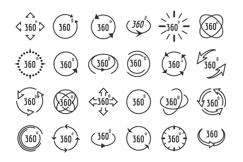 full-rotation-line-icons
