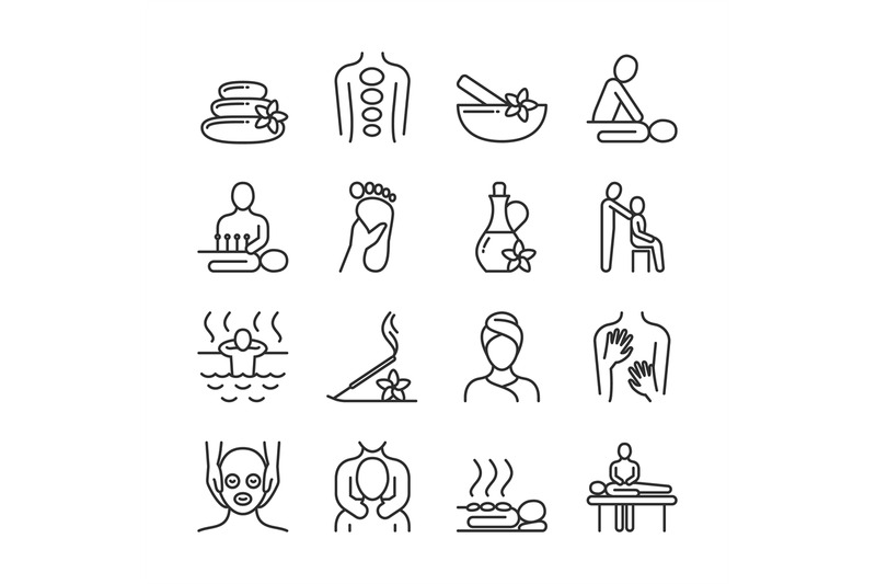 relaxing-massage-and-organic-spa-line-pictograms-hand-therapy-vector