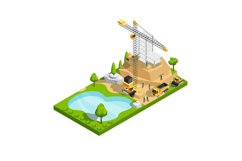 commercial-building-construction-3d-isometric-vector-concept-for-archi