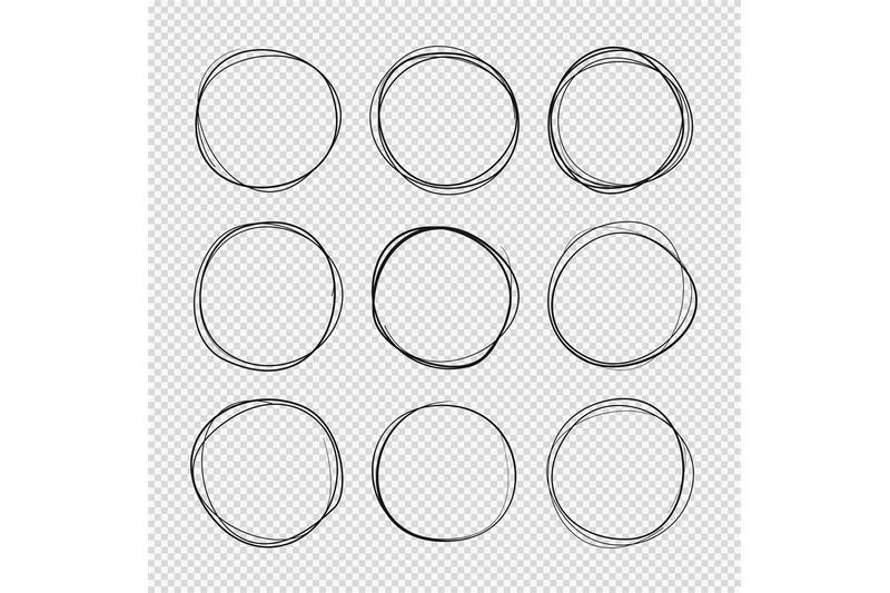 doodle-sketched-circles-hand-drawn-scribble-rings-isolated-vector-set