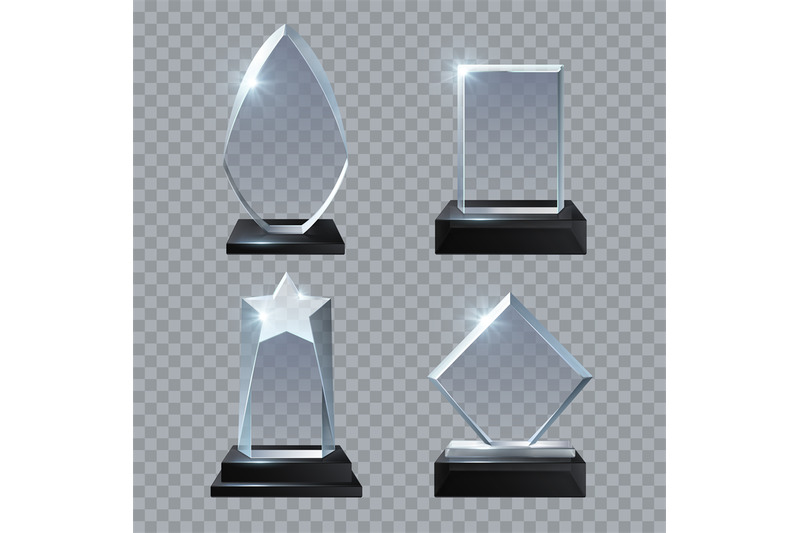 crystal-glass-blank-trophy-awards-isolated-vector-templates-collection