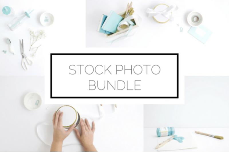 Free Teal Creative Stock Photo Bundle (PSD Mockups)