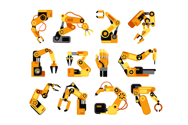 factory-robot-arms-manufacturing-industrial-equipment-vector-set