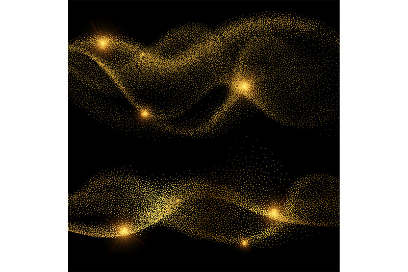 abstract-golden-shiny-smokey-wave-vectors