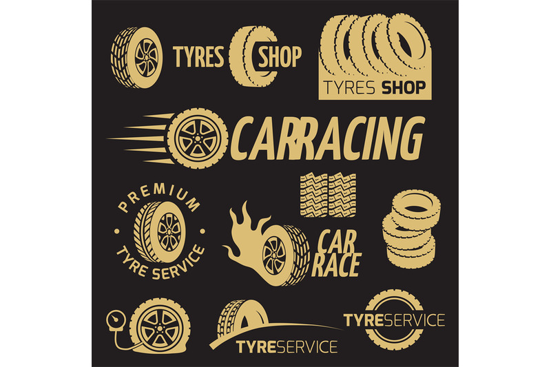 automobile-rubber-tire-shop-car-wheel-racing-vector-logos-and-labels
