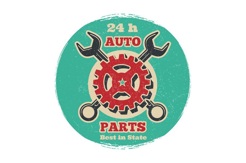 vintage-road-vehicle-repair-service-logo-design-grunge-car-service-ba