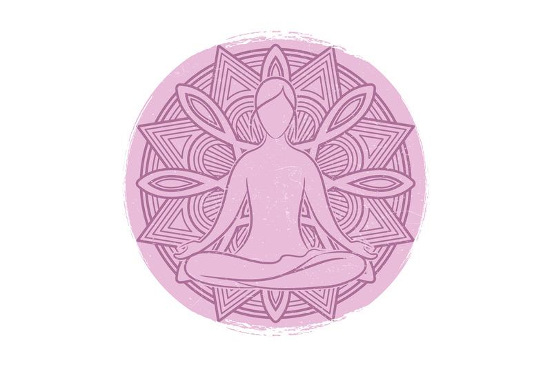yoga-grunge-banner-design-meditation-asana