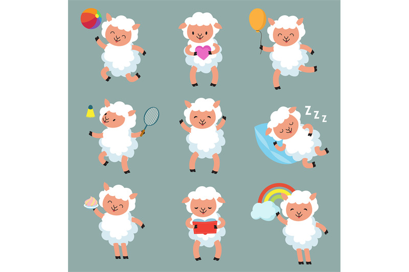 cute-baby-sheep-funny-cartoon-woolly-lamb-vector-characters