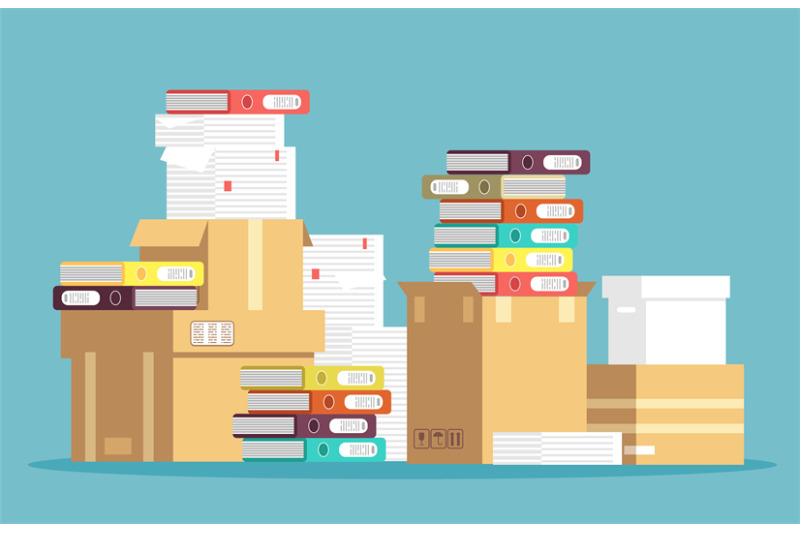 pile-of-cardboard-boxes-paper-documents-and-office-file-folders-isola