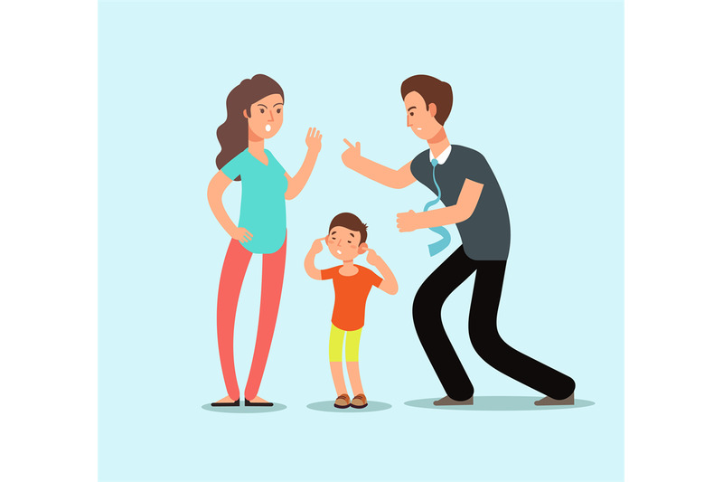 angry-husband-and-wife-swear-in-presence-of-unhappy-scared-kid-family