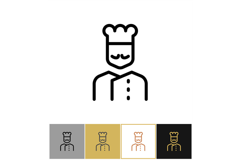 chef-icon-restaurant-kitchen-cook-sign