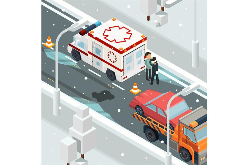urban-accident-crash-cars-winter-warning-on-road-slip-wreck-automobil