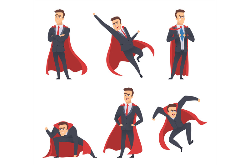 businessman-superheroes-office-managers-directors-workers-red-cloak-s