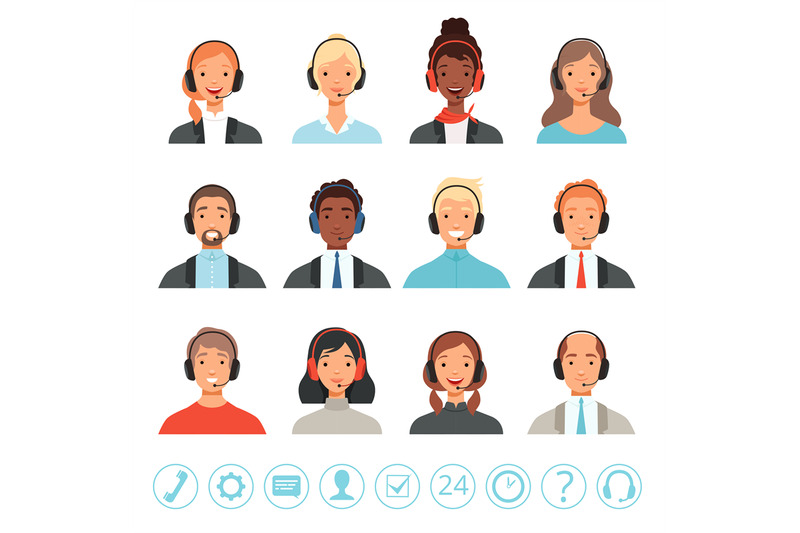 call-center-operators-avatars-male-and-female-customer-service-contac