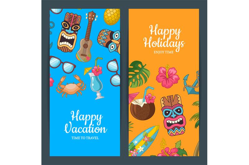 vector-cartoon-summer-travel-web-banner-templates-illustration