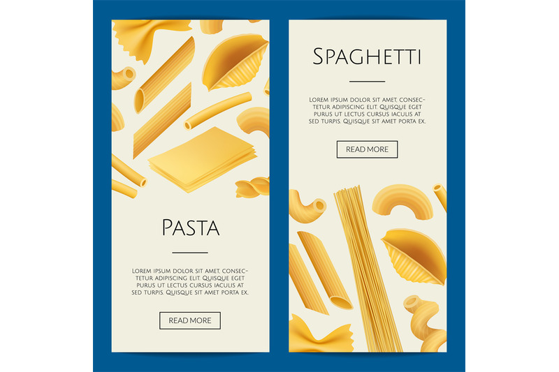 vector-realistic-pasta-types-web-banner-illustration