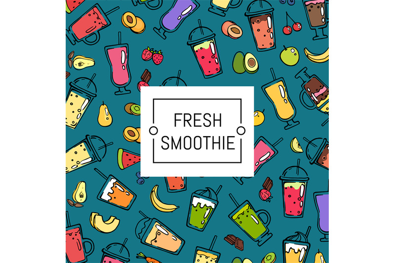 vector-doodle-smoothie-background-and-pattern-illustration