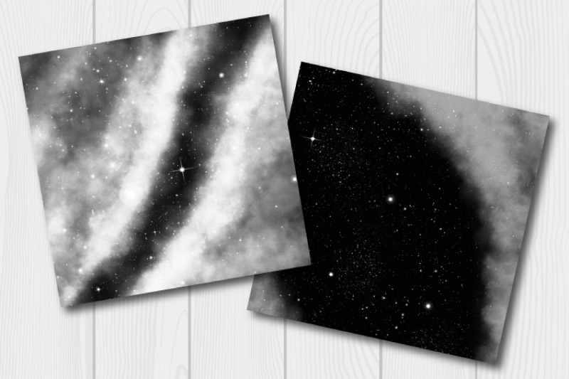 monochrome-galaxy-digital-paper-starry-sky-and-science-fiction