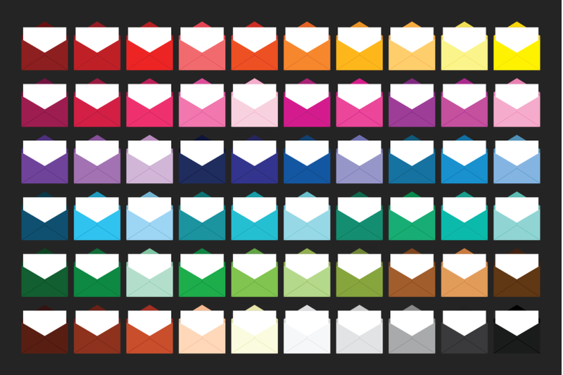 open-mail-letter-envelope-clip-art-set
