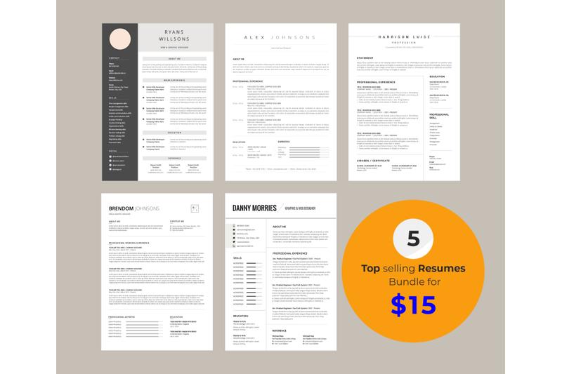 resume-bundle-5-in-1