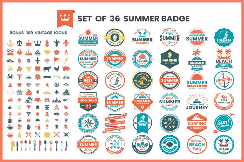 vintage-badge-amp-objects-vector-set