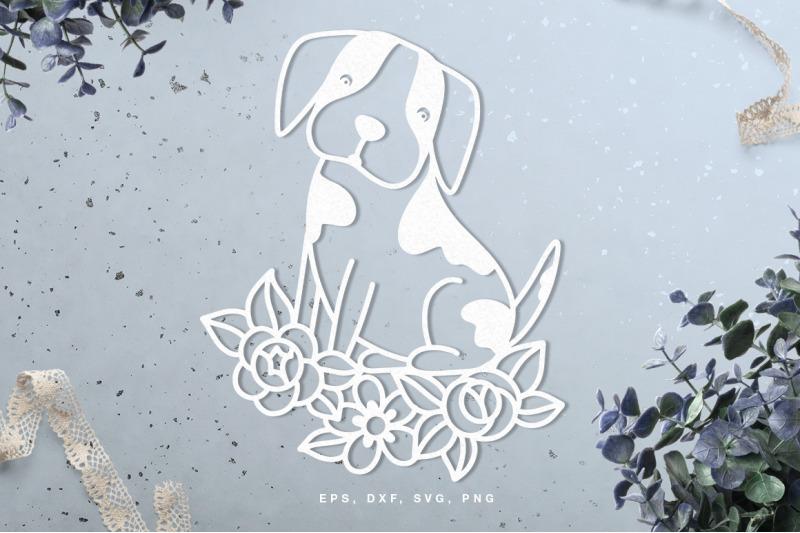 cute-dog-in-florals-nbsp-cut-file