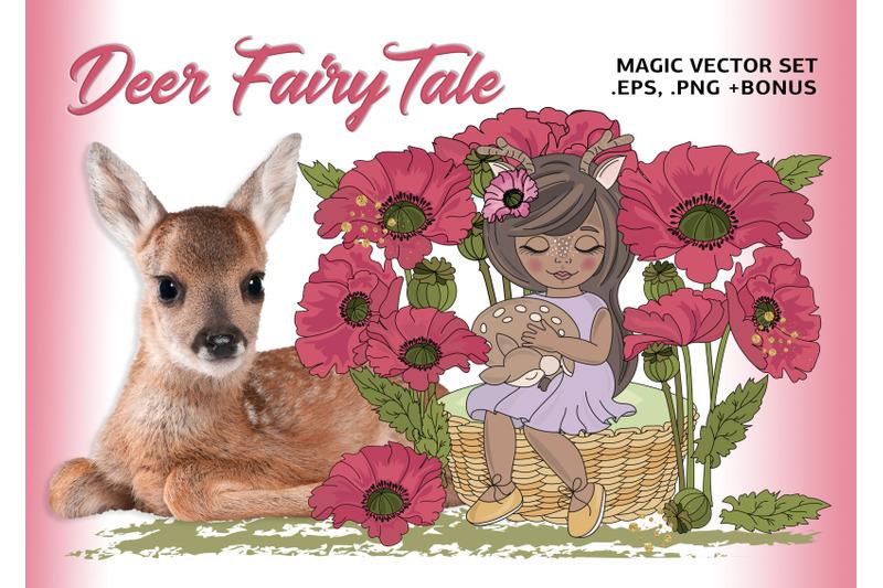 deer-fairy-tale-cartoon-clipart-vector-illustration-set