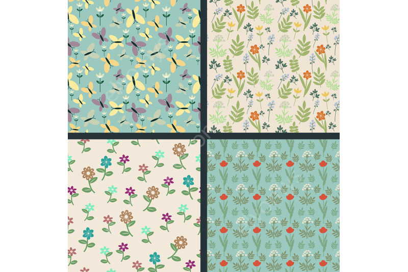 floral-and-butterflies-patterns
