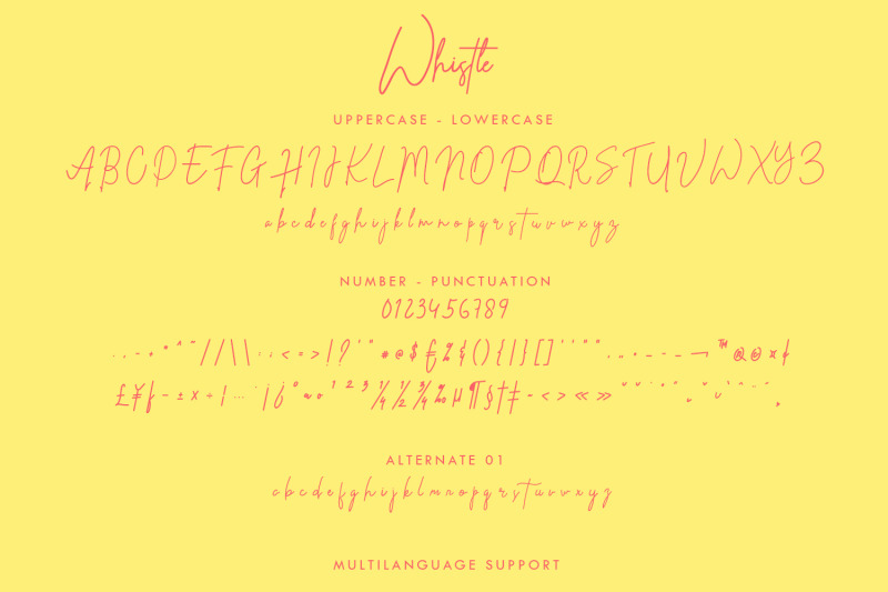 whistle-signature-font
