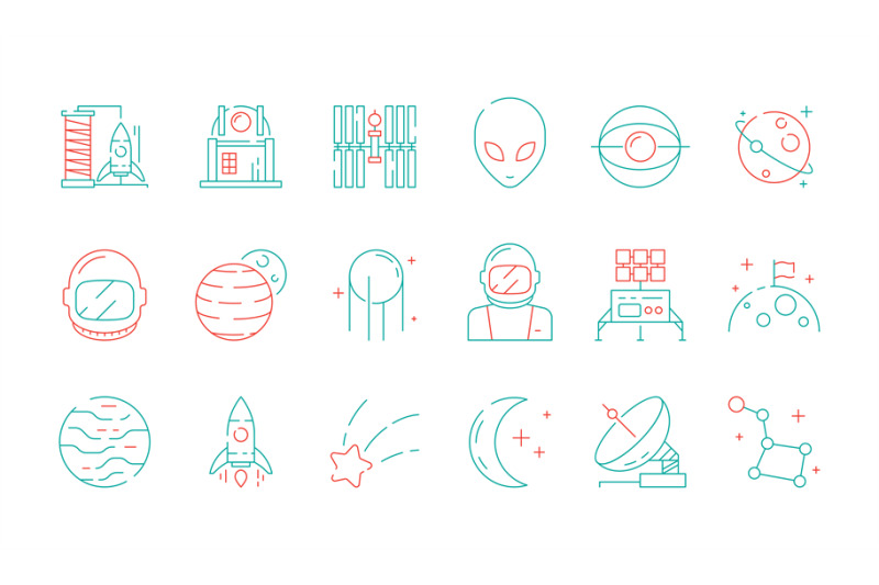 space-colored-icon-astronomy-collection-universe-discovery-astronaut