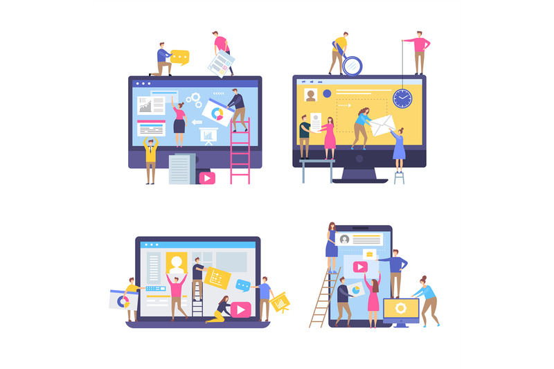 characters-making-web-pages-peoples-decorated-websites-team-in-busine
