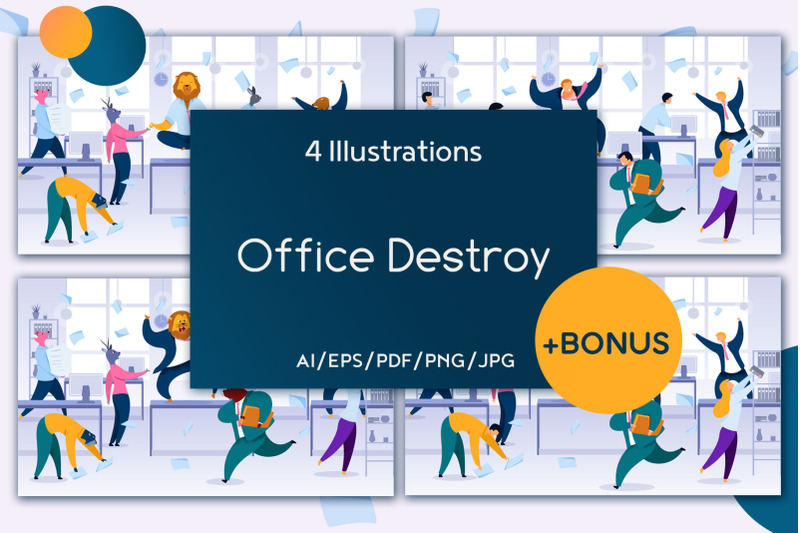 office-destroy-flat-collection