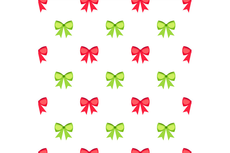 red-and-green-bows-seamless-pattern