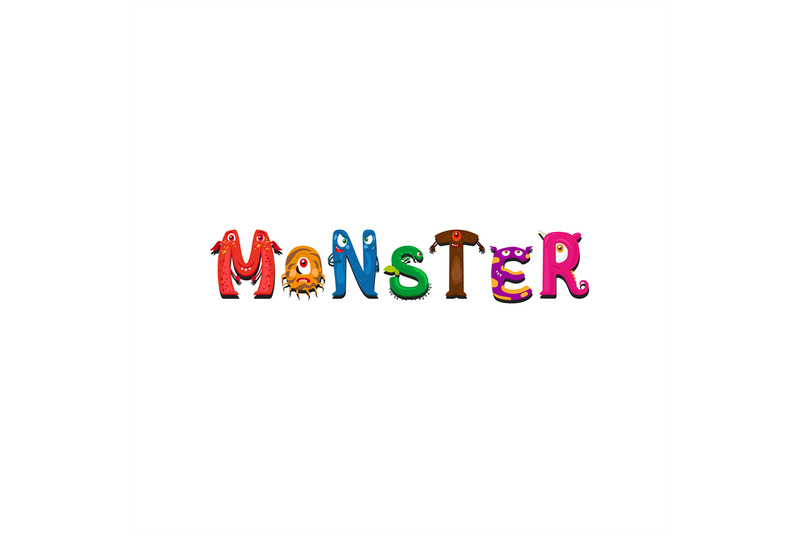 monsters-letter-and-word-monster-print-design