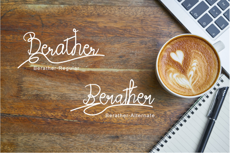 berather-a-monoline-script-font