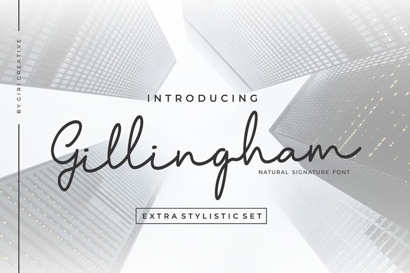 gillingham-signature-font