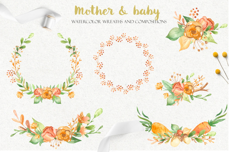 mother-and-baby-watercolor-collection
