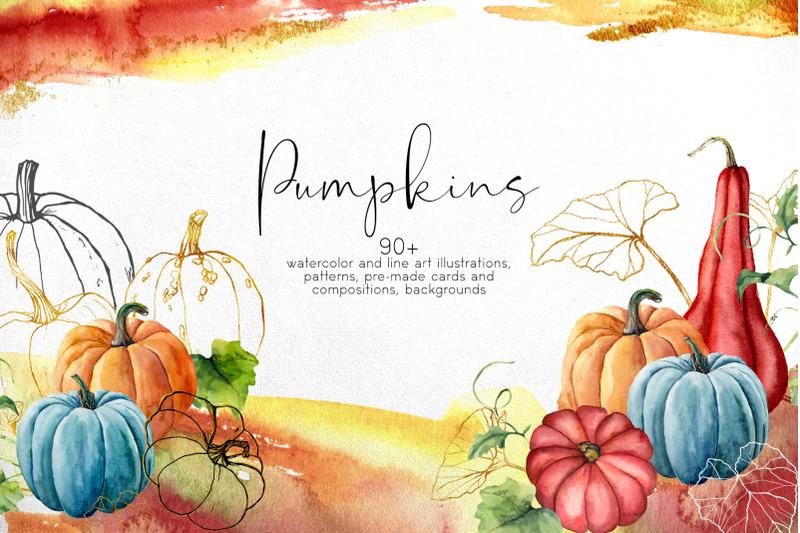 pumpkins-watercolor-bundle