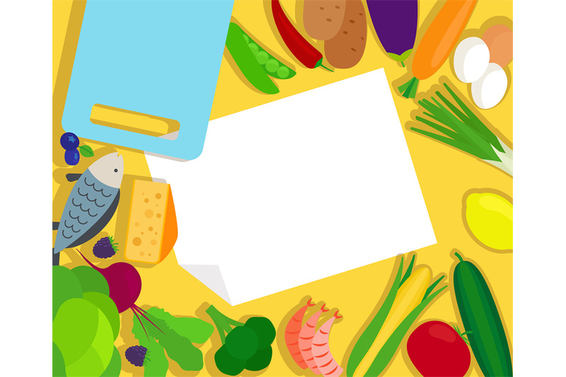 healthy-food-and-blank-paper-template