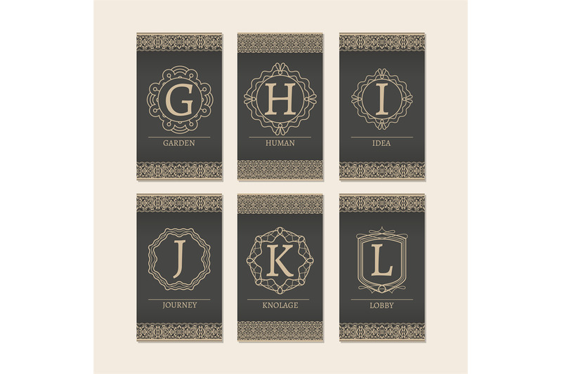 cards-set-with-monogram-letters-g-l