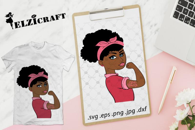 afro-girl-girl-power-feminism-rosie-the-riveter-svg-cut-file