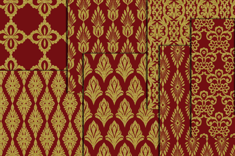 gold-wedding-damasks-gold-wedding-paper-maroon-gold-papers