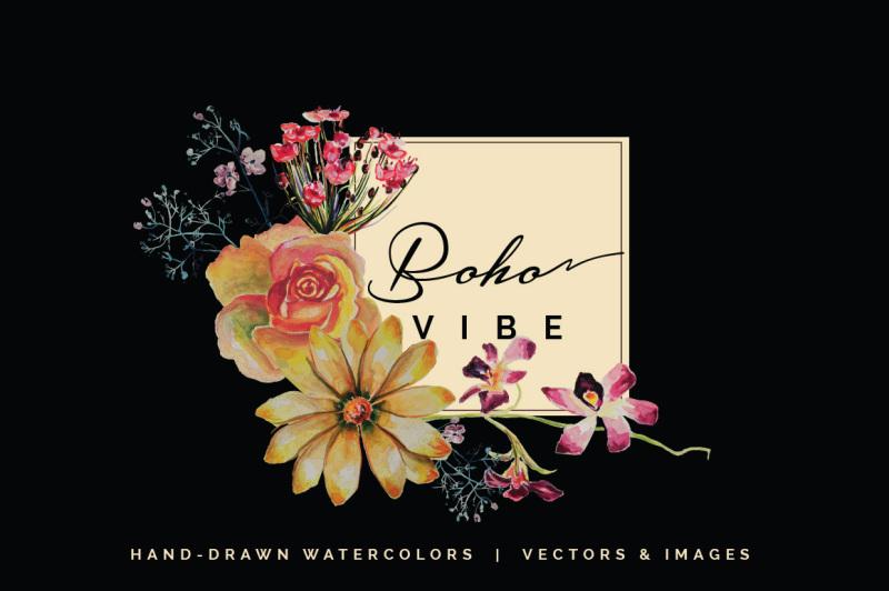 boho-vibe-vector-watercolors