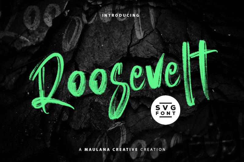 roosevelt-svg-brush-font