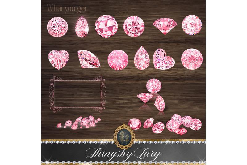 42-pink-hanging-diamond-string-hanging-set-digital-images-png