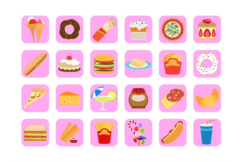 sweets-and-fatty-food-icons